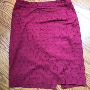 J. Crew Pencil Skirt - Embroidered, Eyelet, Size 2